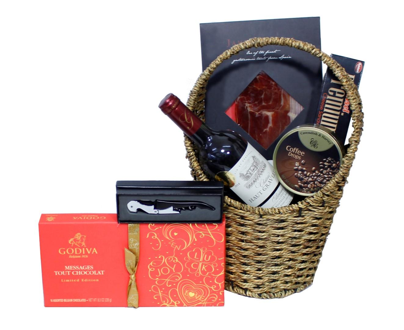 Godiva & Ham Gifts Food Basket 31